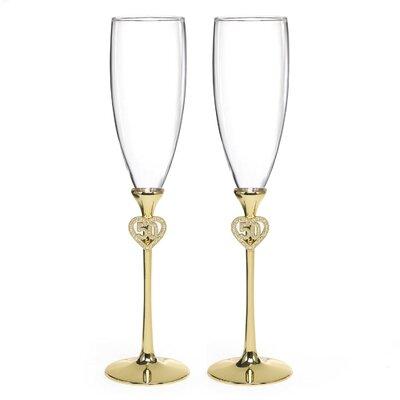 Jeweled 50th Anniversary Flute Set
