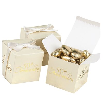 50th Anniversary Favour Boxes
