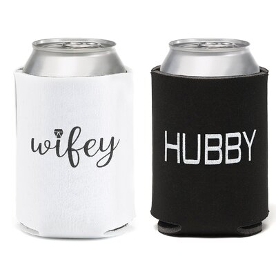 Wifey Hubby 2 Piece Can Cooler Set 21575