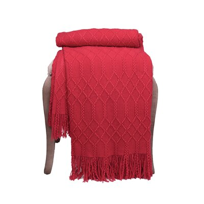 Florence Woven Throw F347 RD