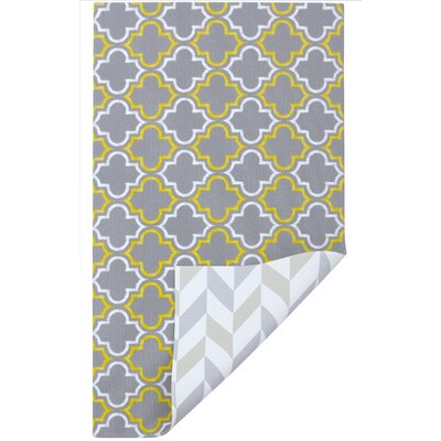 Methia Gray/Yellow/Beige Indoor Area Rug