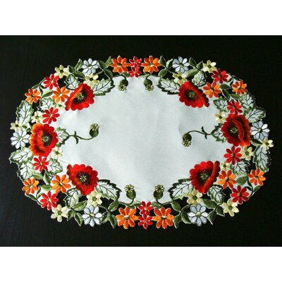 Cadnite Red Poppy Embroidery Placemat