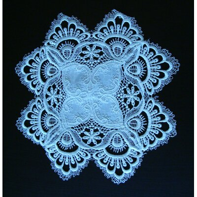 BerkeleyHeights White Lace Placemat Color: White