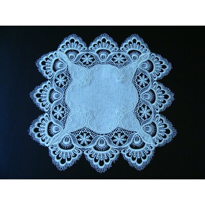 ForestHills White Lace Placemat Color: White