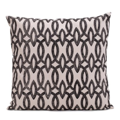 Deiana Printed 100% Cotton Throw Pillow Color: Black, Set of: 2