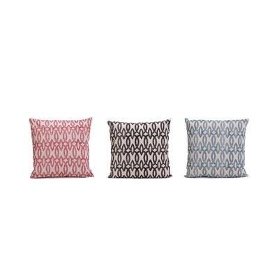 Coccia Printed 100% Cotton Throw Pillow (Set of 3)