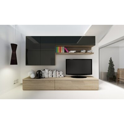 Panton 102.4 Entertainment Center Color: Oak