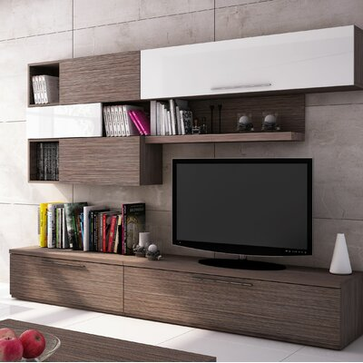 Panton 102.4 Entertainment Center Color: Pine/White