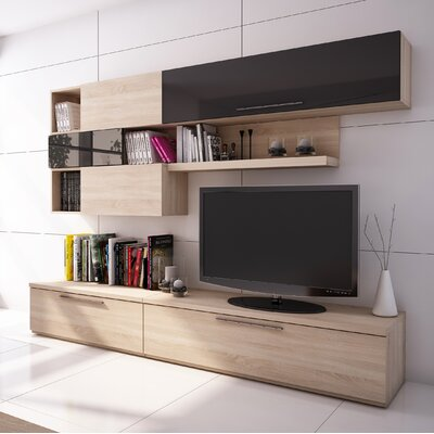 Dupras 102.4 Entertainment Center Color: Oak/Graphit