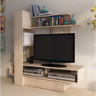 Maloy 55.1 Entertainment Center Color: Oak