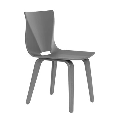 V Solid Wood Dining Chair Finish: Gray