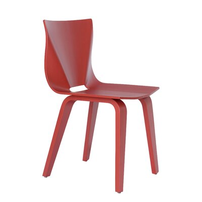 V Solid Wood Dining Chair Finish: Red