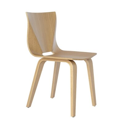 V Solid Wood Dining Chair Finish: Staight Grain White Oak
