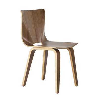 V Solid Wood Dining Chair Finish: Walnut