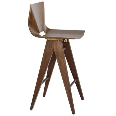 V 25.5 Bar Stool Color: Walnut