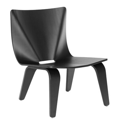V Lounge Chair Finish: Black