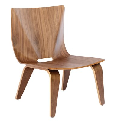 V Lounge Chair Finish: walnut