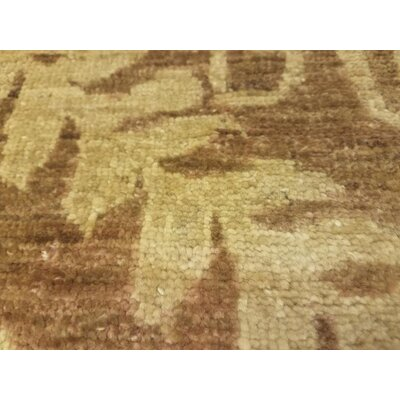 Alpert Hand-Knotted Wool Gold/Brown Area Rug