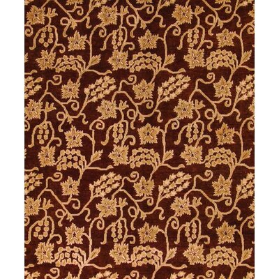 Badham Hand-Knotted Rectangle Wool Dark Gold Area Rug
