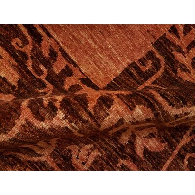 Alpert Hand-Knotted Wool Red Area Rug