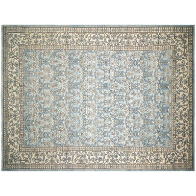 Xenos Hand-Knotted Wool Light Blue Area Rug