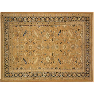 Xenos Hand-Knotted Wool Taupe/Blue Area Rug