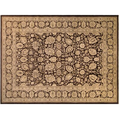 Xenos Traditional Hand-Knotted Wool Brown Area Rug