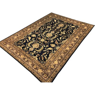 Xenos Hand-Knotted Wool Blue/Brown Area Rug
