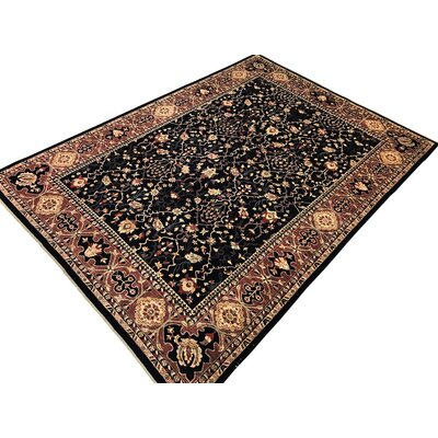 Xenos Transitional Hand-Knotted Wool Blue Area Rug