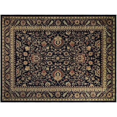 Xenos Hand-Knotted Wool Dark Blue Area Rug