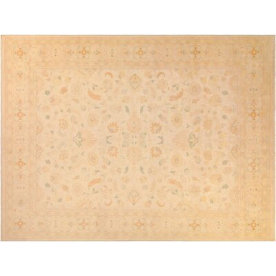 Adalrik Hand-Knotted Wool Natural Area Rug
