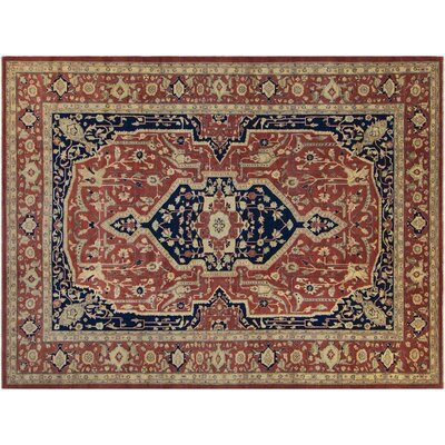 Badham Hand-Knotted Wool Rust Area Rug