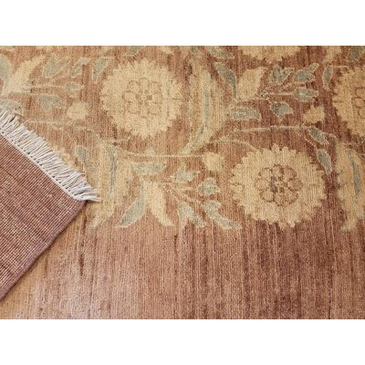 Badham Hand-Knotted Wool Tan Area Rug