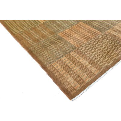Badham Hand-Knotted Wool Taupe Area Rug