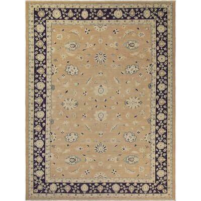Xenos Hand-Knotted Rectangle Wool Blue Area Rug