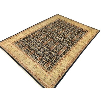 Badham Hand-Knotted Wool Dark Gold Area Rug