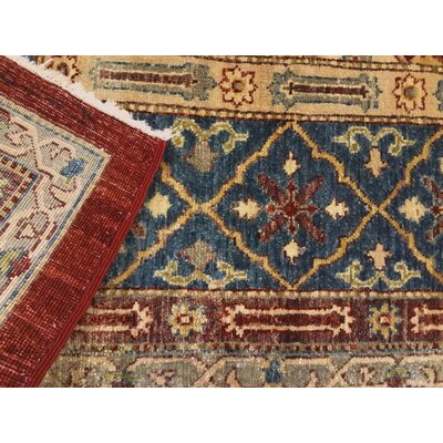 Xenos Hand-Knotted Wool Red/Blue Indoor Area Rug