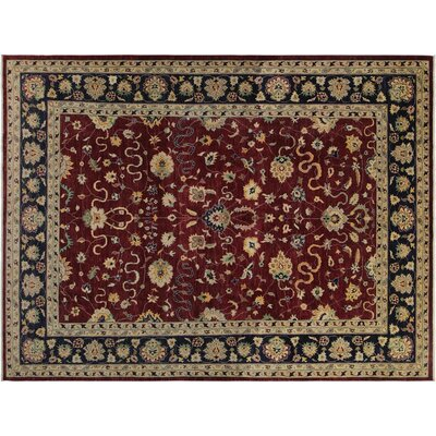 Xenos Hand-Knotted Wool Red Area Rug