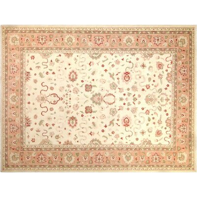 Xenos Hand-Knotted Wool Pink Area Rug