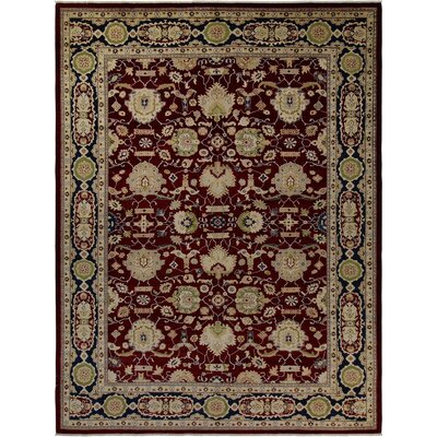 Xenos Hand-Knotted Wool Red/Blue Area Rug