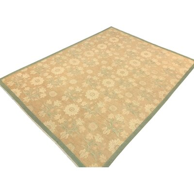 Xenos Hand-Knotted Wool Green Area Rug