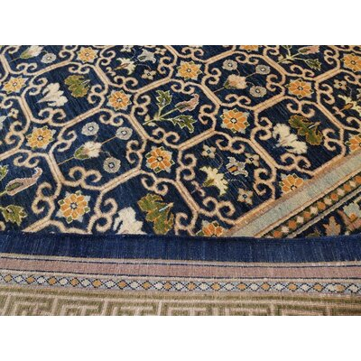 Xenos Hand-Knotted Wool Blue/Green Area Rug