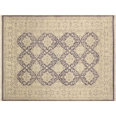 Xenos Hand-Knotted Purple/Light Gray Area Rug