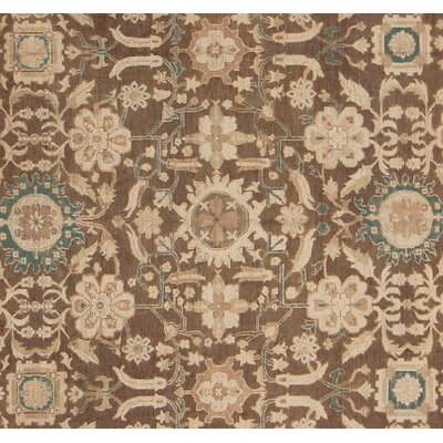 Xenos Hand-Knotted Wool Light Brown/Ivory Area Rug
