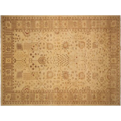 Xenos Hand-Knotted Wool Tan Indoor Area Rug
