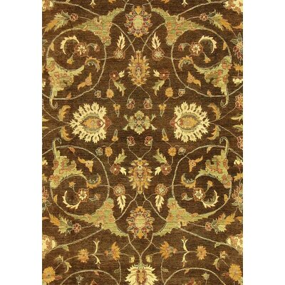 Badham Hand-Knotted Wool Brown/Light Gold Area Rug