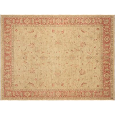 Xenos Hand-Knotted Wool Light Gold/Pink Area Rug