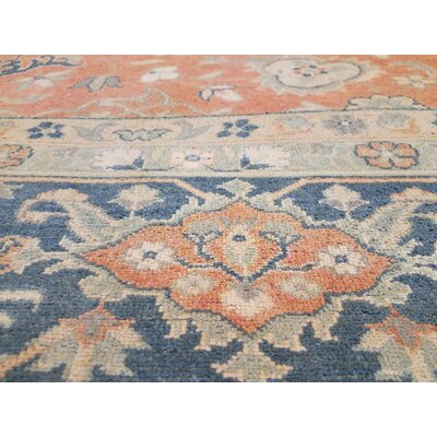 Xenos Hand-Knotted Wool Orange/Teal Area Rug