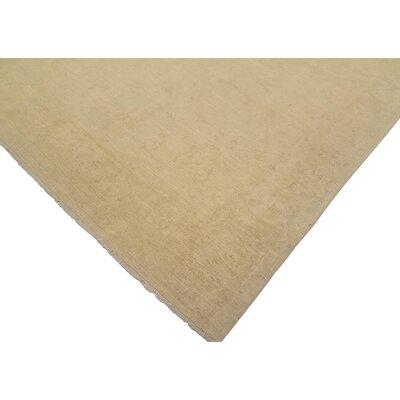 Adalrik Hand-Knotted Wool Tan Area Rug