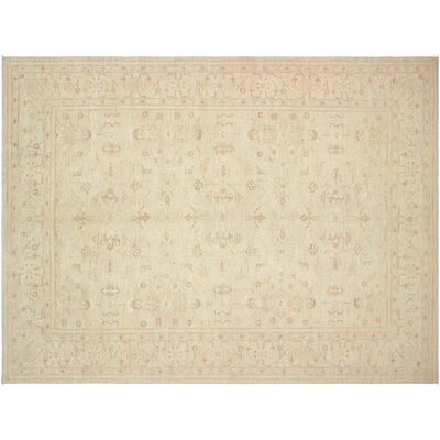 Xenos Traditional Hand-Knotted Rectangle Wool Tan Area Rug